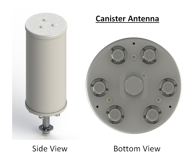 canister antenna view